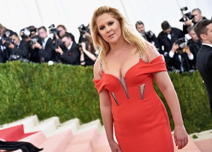 "NEW YORK, NY - MAY 02: Amy Schumer attends the ""Manus x Machina: Fashion In An Age Of Technology"" Costume Institute Gala at Metropolitan Museum of Art on May 2, 2016 in New York City. (Photo by Mike Coppola/Getty Images for People.com)"