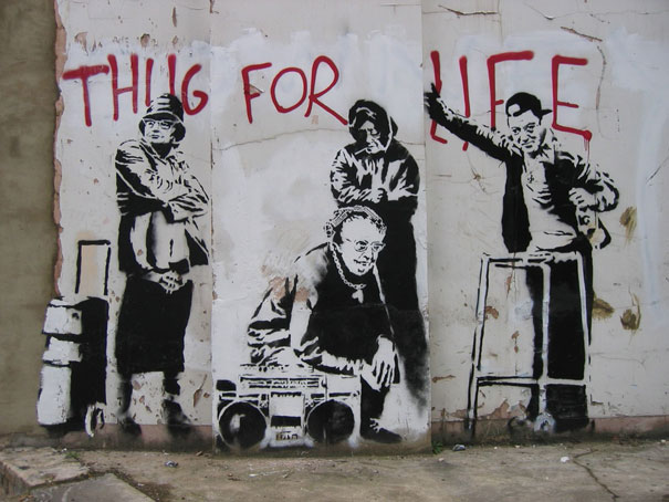 banksy-graffiti-street-art-thug-for-life