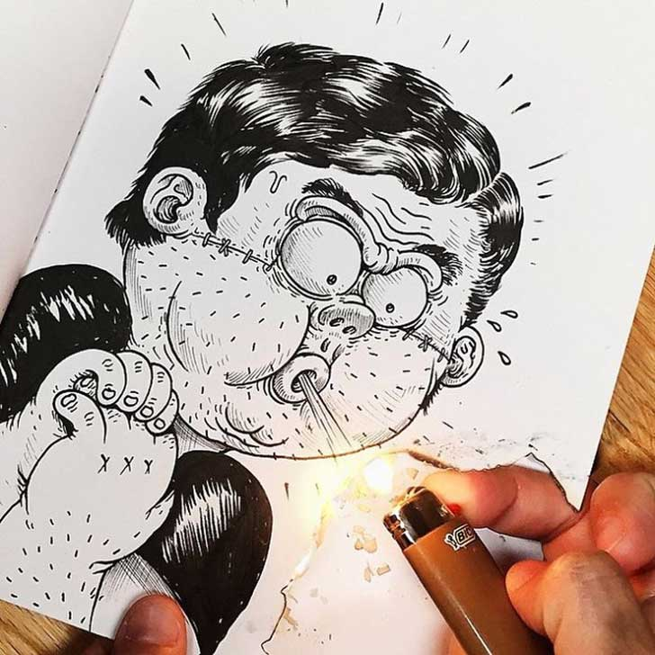 Funny-Drawing-Character-Fighting-His-Maker__700