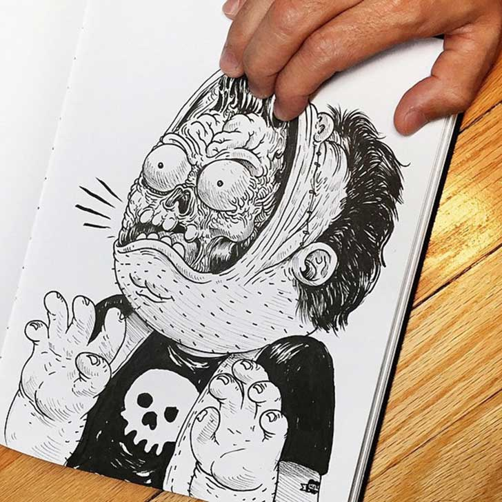 funny-drawing-character-fighting-maker7