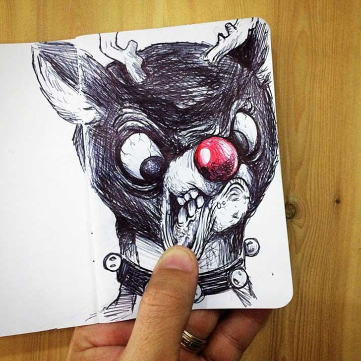 funny-drawing-character-fighting-maker8