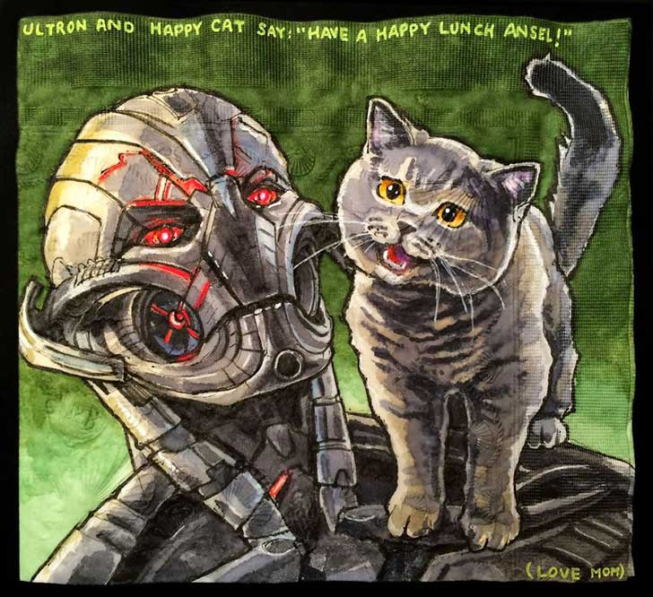 Cats-and-Robot-Drawn-on-Kids-Lunchbox-Napkins-2__880