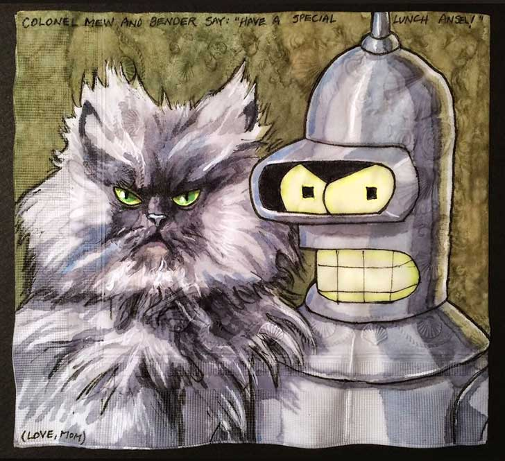 Cats-and-Robot-Drawn-on-Kids-Lunchbox-Napkins-9__880