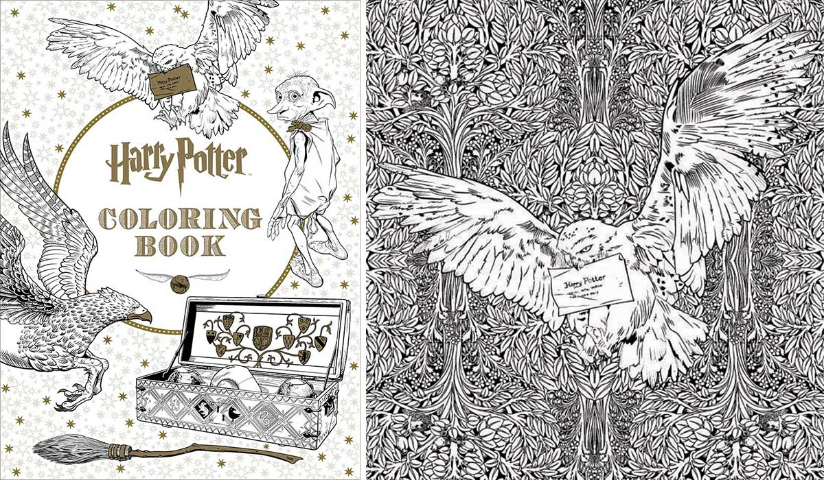 Harry Potter Coloring Book libro para colorear