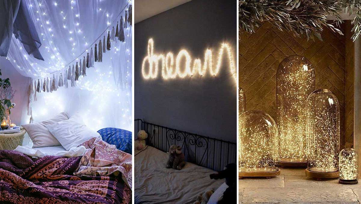 ideas para decorar tu hogar con luces en cadena