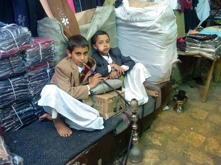 its-not-unusual-for-children-in-yemen-to-start-smoking-hookah-and-chewing-khat--a-flowering-plant-native-to-the-horn-of-africa-and-arabian-peninsula--at-a-very-early-age