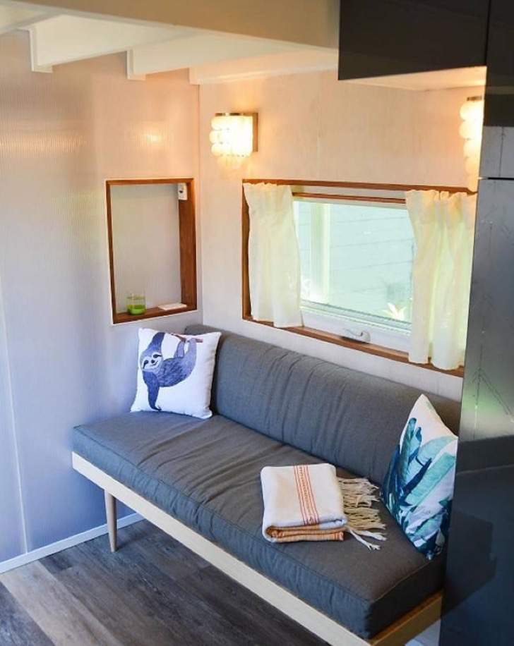 Surfer couple's 260 sq ft MODERN TINY HOUSE in HD Youtube