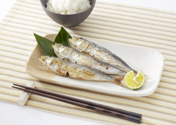 Roasted sardines