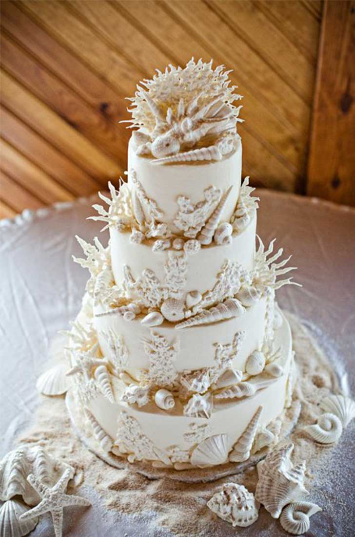 unique beach wedding cakes 25 ideas para tener la mejor boda playera de la historia 21423