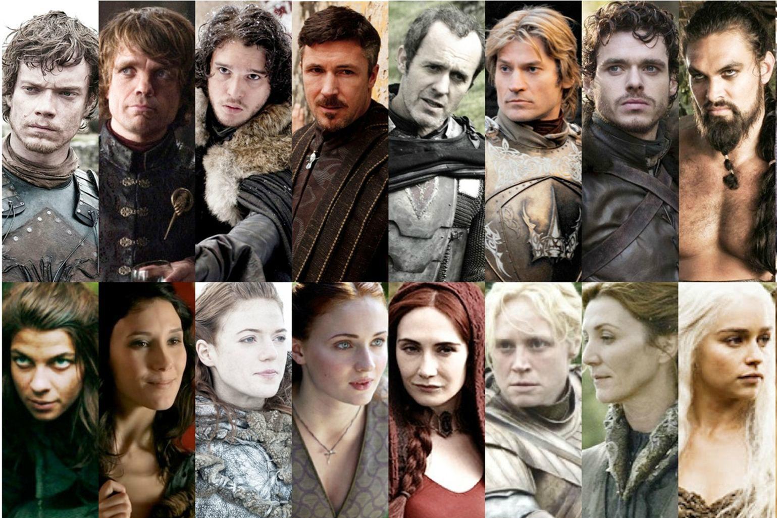 Clásico y sencillo peinados juego de tronos Colección de ideas de color de pelo - ¿Puedes identificar estos personajes de Juego de Tronos ...