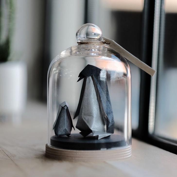 Figuras de origami en frascos 12 2 - Magníficas figuras de origami para decorar tu habitación