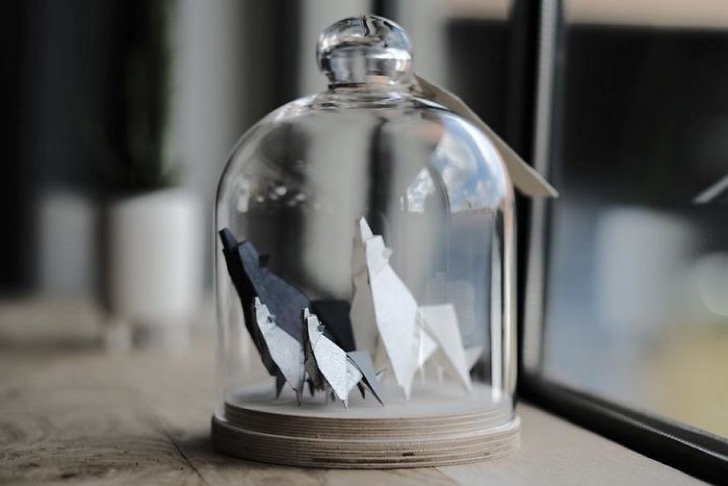 Figuras de origami en frascos 6 2 - Magníficas figuras de origami para decorar tu habitación