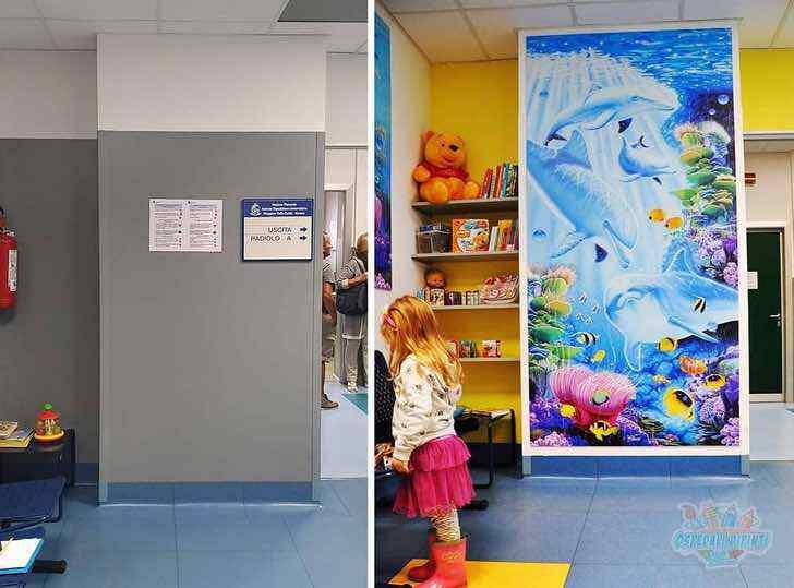 Artista italiano pinta paredes de hospitales para que los niños no ...