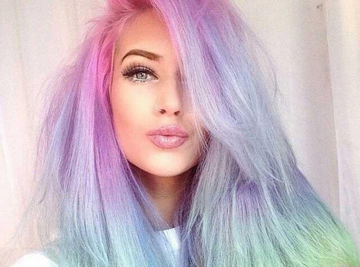 Color rosa pastel para pelo